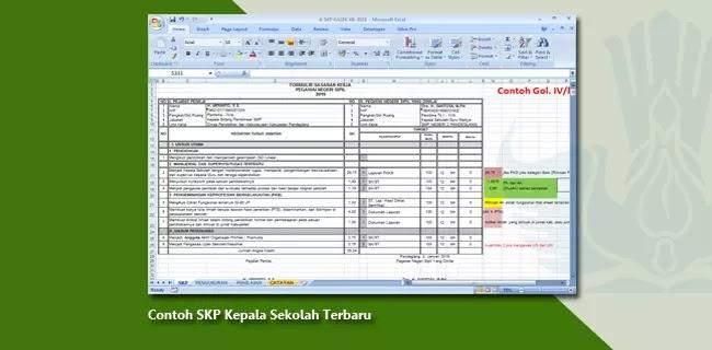 Contoh SKP Kepala Sekolah Terbaru Format Microsoft Excel