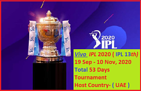 Vivo IPL 2020 Date, Time and Venue Confirmed !! IPL 2020 !! Ipl 2020 news