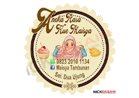 Aneka rasa kue maisya - percetakan tanjungbalai - logo label