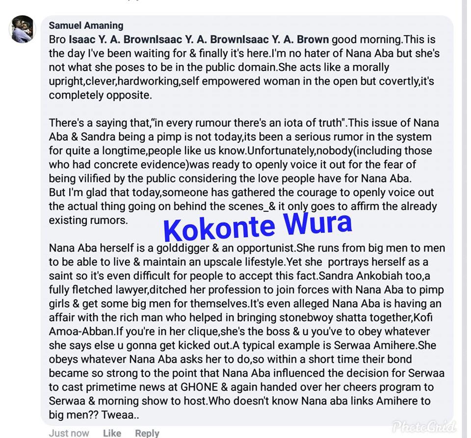 Sandra Ankobiah Allegedly Dating Kofi Amoah-Abban; The Rich Man Behind Shatta Wale & Stonebwoy's Unity