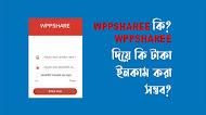 Wppshare কি? WppShare এর মাধ্যমে কি টাকা আয় করা সম্ভব?