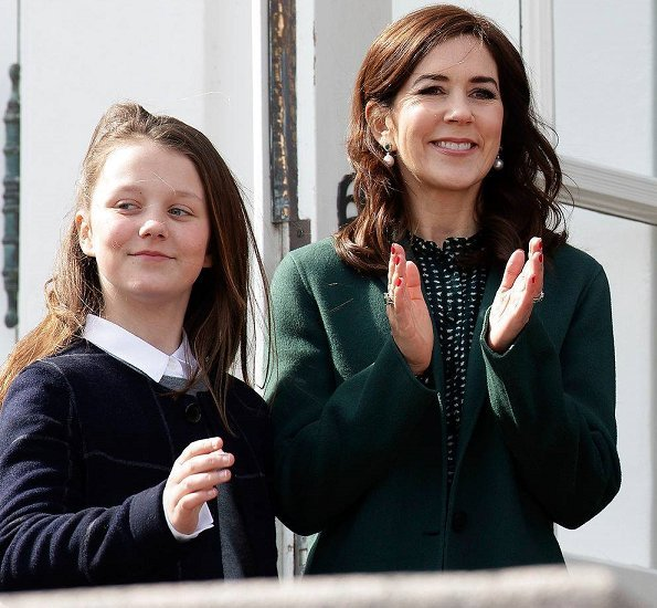 Crown Prince Frederik, Crown Princess Mary, Prince Christian, Princess Isabella, Prince Vincent and Princess Josephine