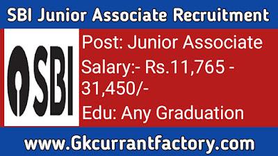 SBI Junior Associate Recruitment, SBI Recruitment