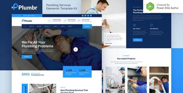 Best Plumbing Services Elementor Template Kit