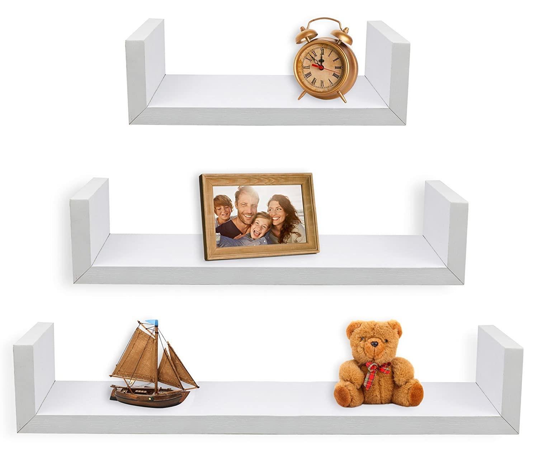 Set of 3 Floating U Shelves