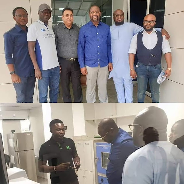 PHOTOS: Minister for Youths and Sports Development, visits A successful Businessman , Prince Tayo Adiatu's Victoria Island Office.