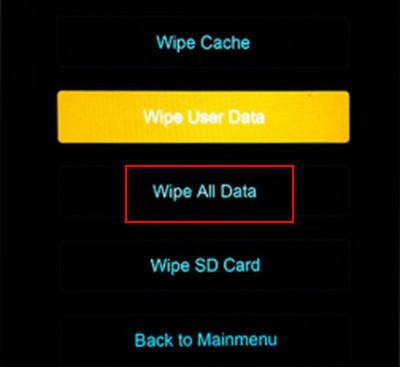 Xiaomi Mi Mix 3 Wipe All Data