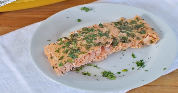 Easiest Baked Salmon With Fresh Herbs Recipe