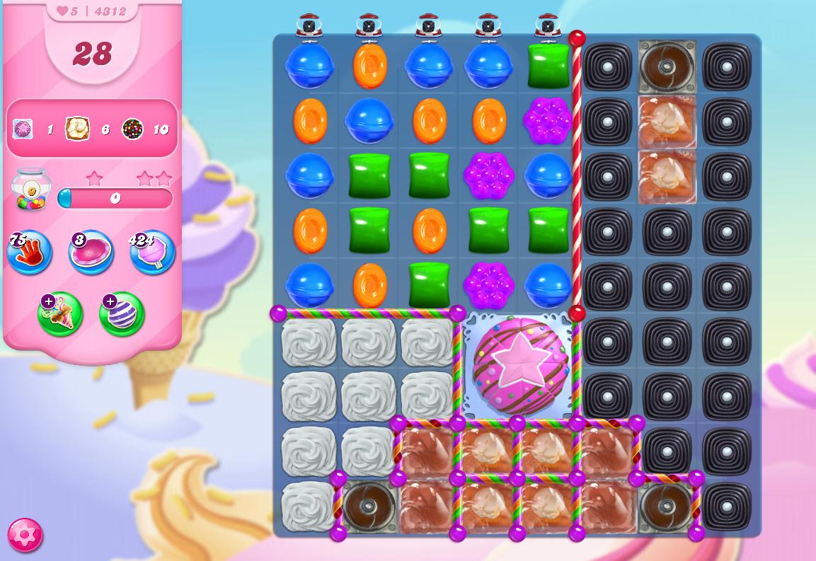 Candy Crush Saga level 4312