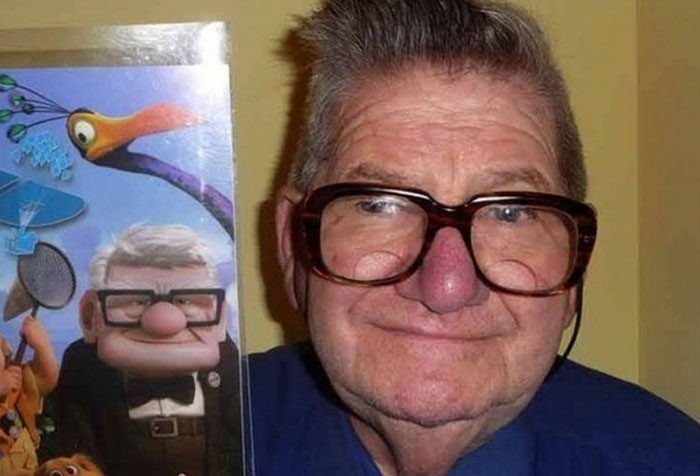 #2 This Old Man Looks Like Carl From Up - 10 Real Life Disney Characters