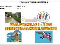 Soal UTS/PTS Kelas 1-6 SD Semester 2 K13 dan Kunci Jawaban
