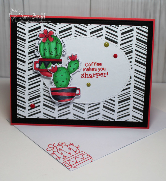 Coffee makes you sharper by Danni features Cuppa Cactus by Newton's Nook Designs; #newtonsnook