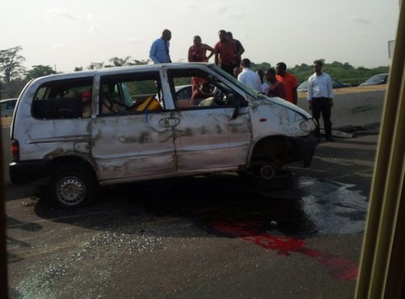 Photos From Accident On 3rd Mainland Bridge This Evening