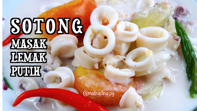 resepi sotong,sotong nak masak apa,sotong masak lemak,masak lemak putih,resepi sotong mudah dan sedap,resepi lauk harian yang mudah,