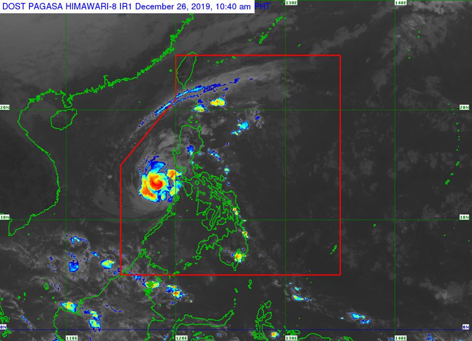 Satellite image of Typhoon 'Ursula'   via DOST-PAGASA