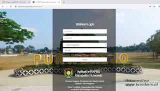Aplikasi erapbs online Dindikpora Purworejo