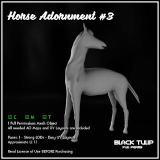 [Black Tulip] Mesh - Horse Adornment #3