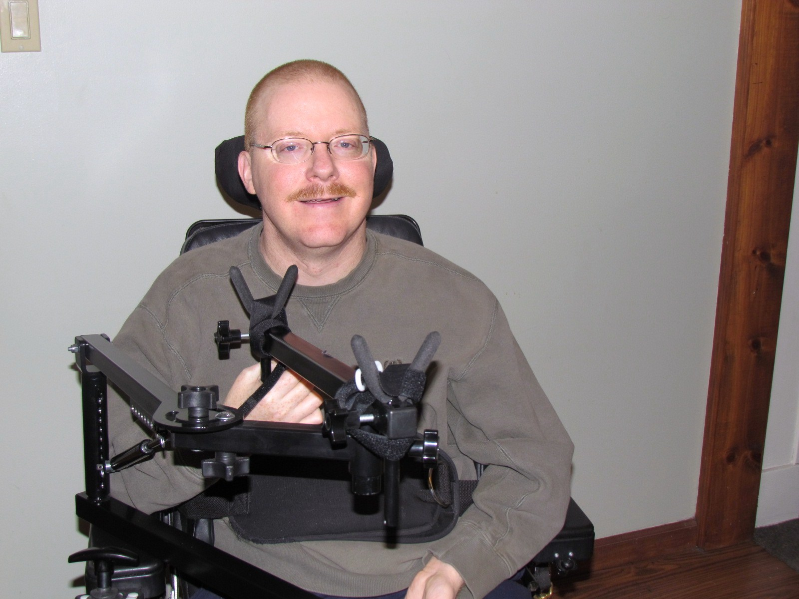 28fec1639e2 I received the new adapted hunting Brace ( LM-100 ) and I thought I would  show you how it looks on my wheelchair. I have not had the opportunity to  take it ...
