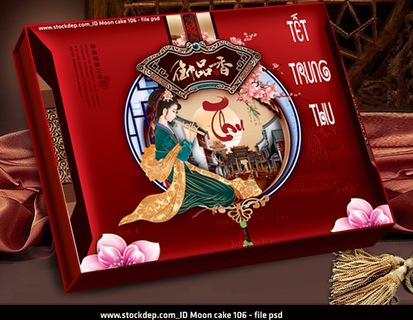Download Moon Cake PSD vectors