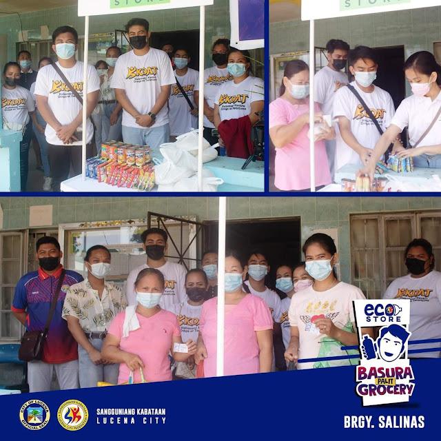 Eco Store: Basura Palit Grocery Project ng Sangguniang Kabataan Federation, nagtungo sa Barangay Salinas