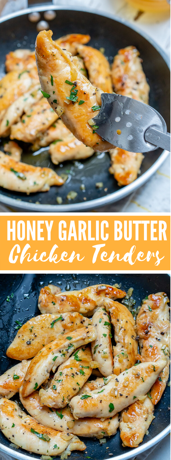 Honey Garlic Butter Chicken Tenders for Clean Eating Meal Prep! #heatlhy #dinner