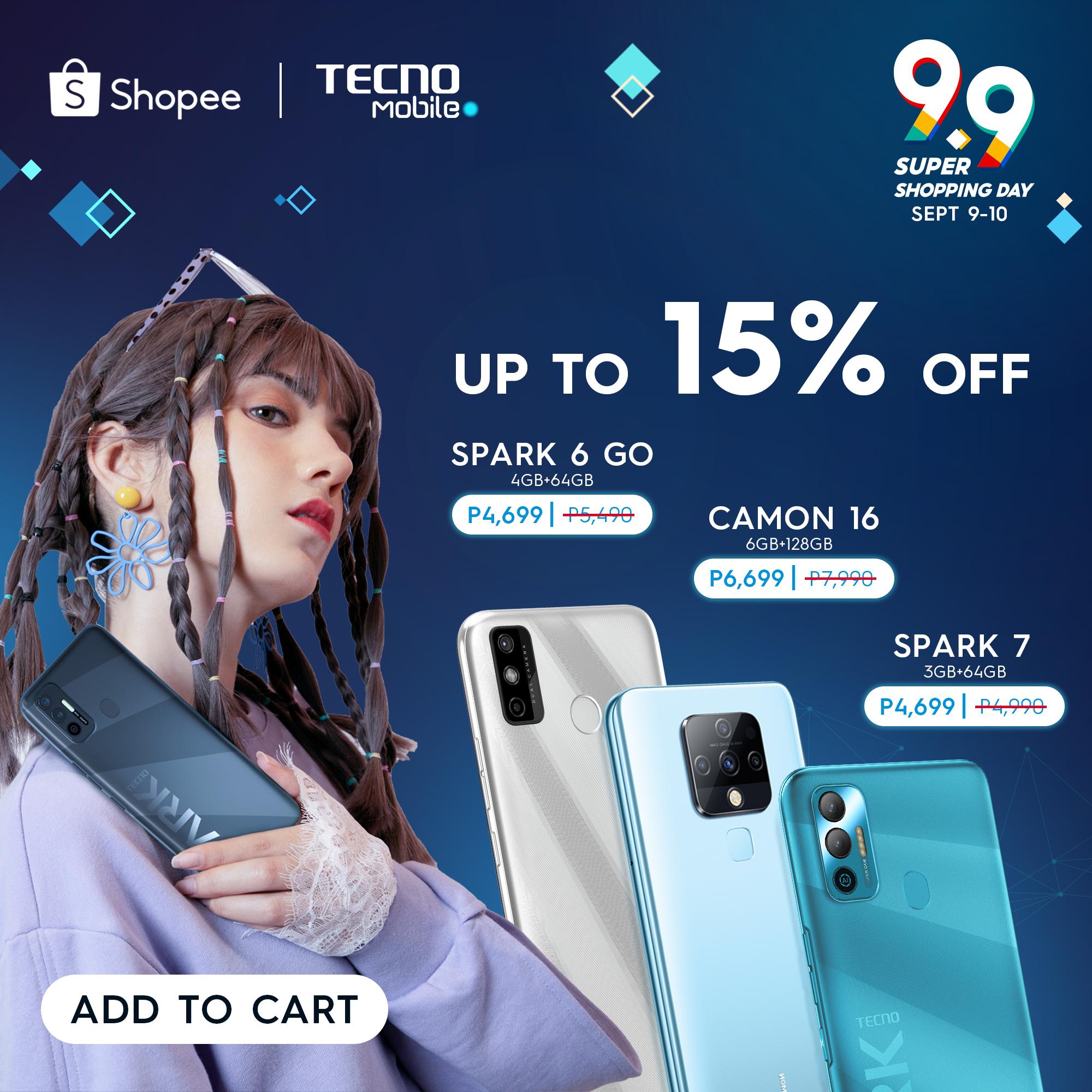 TECNO Mobile Shopee 9.9