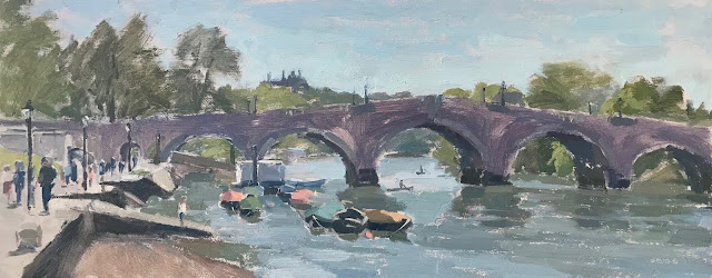 #329 'May Day, Richmond Bridge' 8×19″