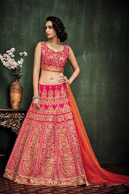 exclusive-bridal-wear-lehenga-choli-in-pink-orange