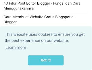 cara mengaktifkan cookies browser blogger wordpress