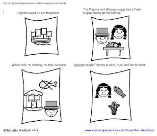 Classroom Freebies Too: Thanksgiving Story Sequencing