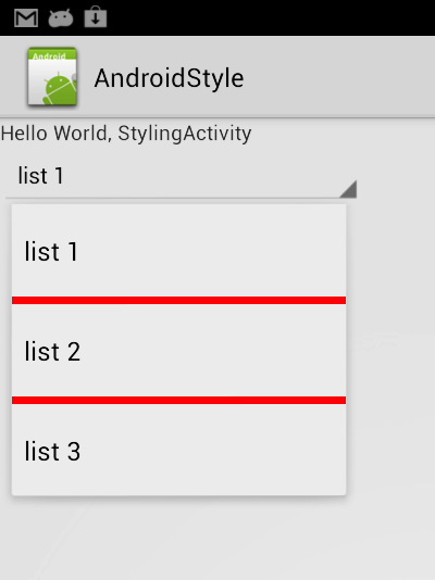 Android - The Technical Blog: Spinner with