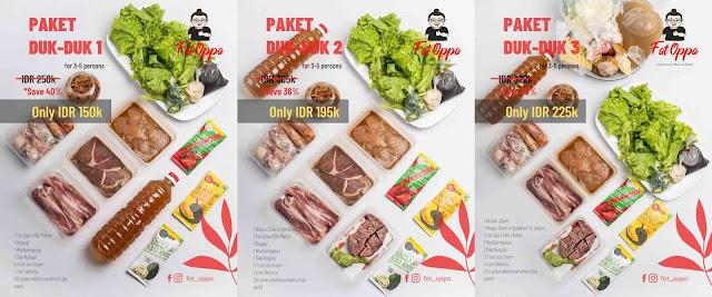 paket duk duk fat oppa korean bbq restaurant special ramadhan