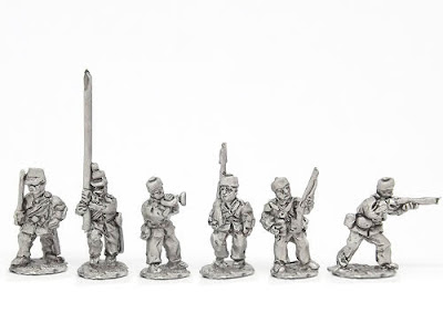 MUB1   Infantry in Home Service dress, inc. comm