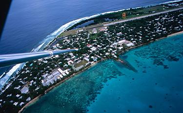 Fongafale, a capital de Tuvalu
