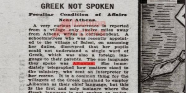 No one knew a single Greek word just 19 km away from Athens, all spoke Albanian