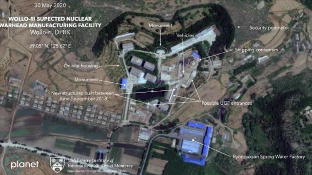 Imágenes satelitales muestran una base nuclear cerca de Pyongyang