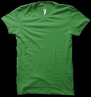 mentahan kaos polos png hijau tua