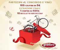 """Concorso """"In forma con Granoro"""" : in palio coupon fino a 500 euro e 10 biciclette Bottecchia"""
