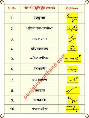 10-june-2020-punjabi-shorthand-outlines