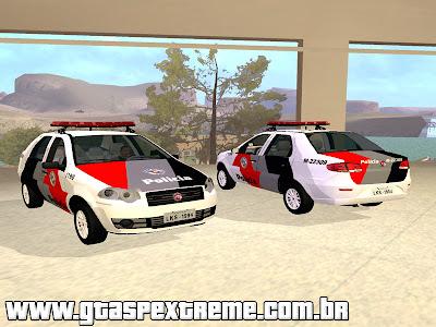 Fiat Siena 2011 PMESP para GTA San Andreas