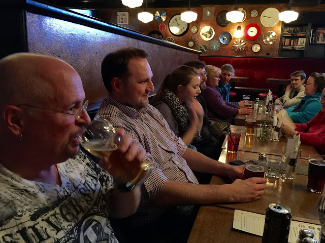 PIerre and Choir at Pub night - The Clocktower Pub
