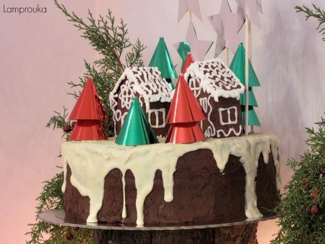 χριστουγεννιάτικη τούρτα γενεθλίων