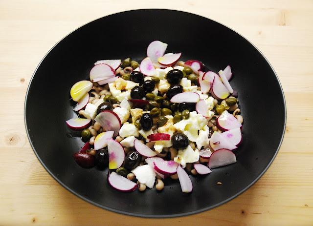 Salade simplissime de haricots à oeil noir