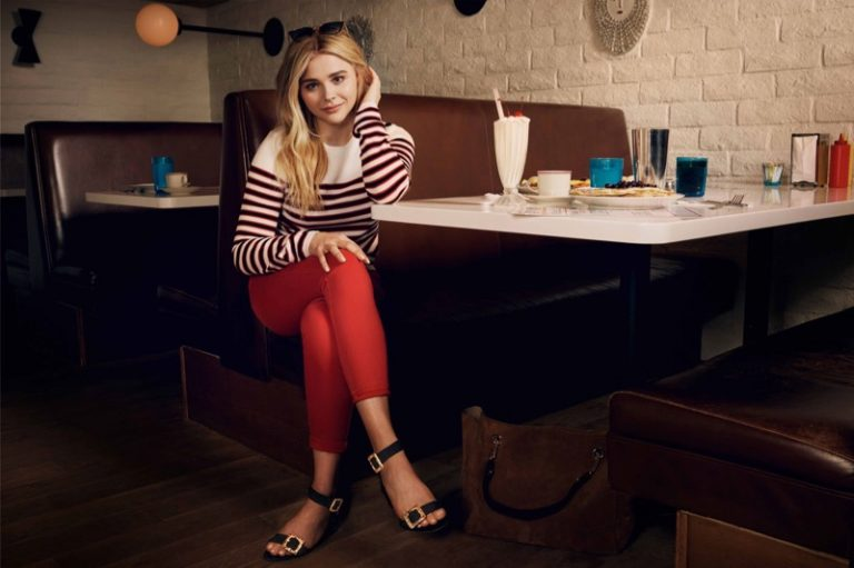 Chloe Grace Moretz models Jimmy Choo 'Dacha 35' sandals