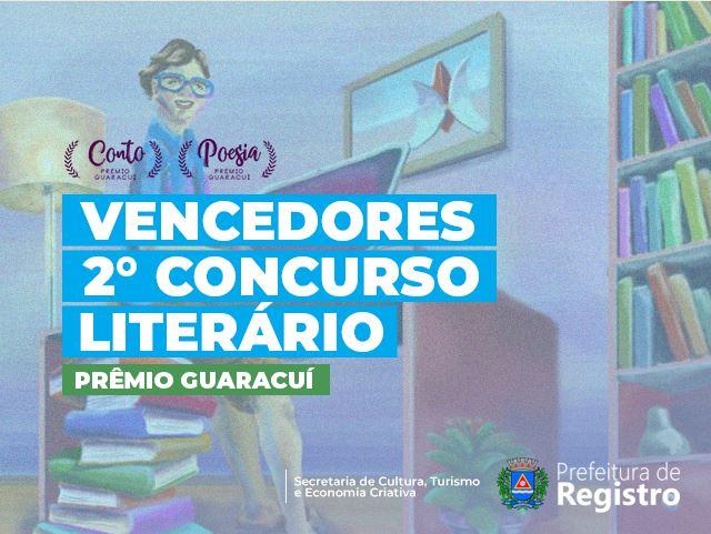 Secretaria Municipal de Cultura divulga resultado dos vencedores do 2 Concurso Literário de Registro-SP