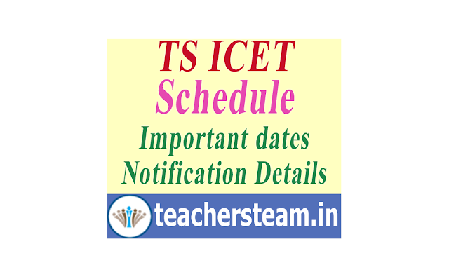 Telangana ICET Notification Details of important Dates and Complete Schedule