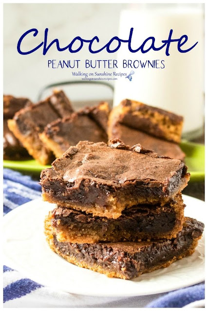 Chocolate peanut butter brownies recipe