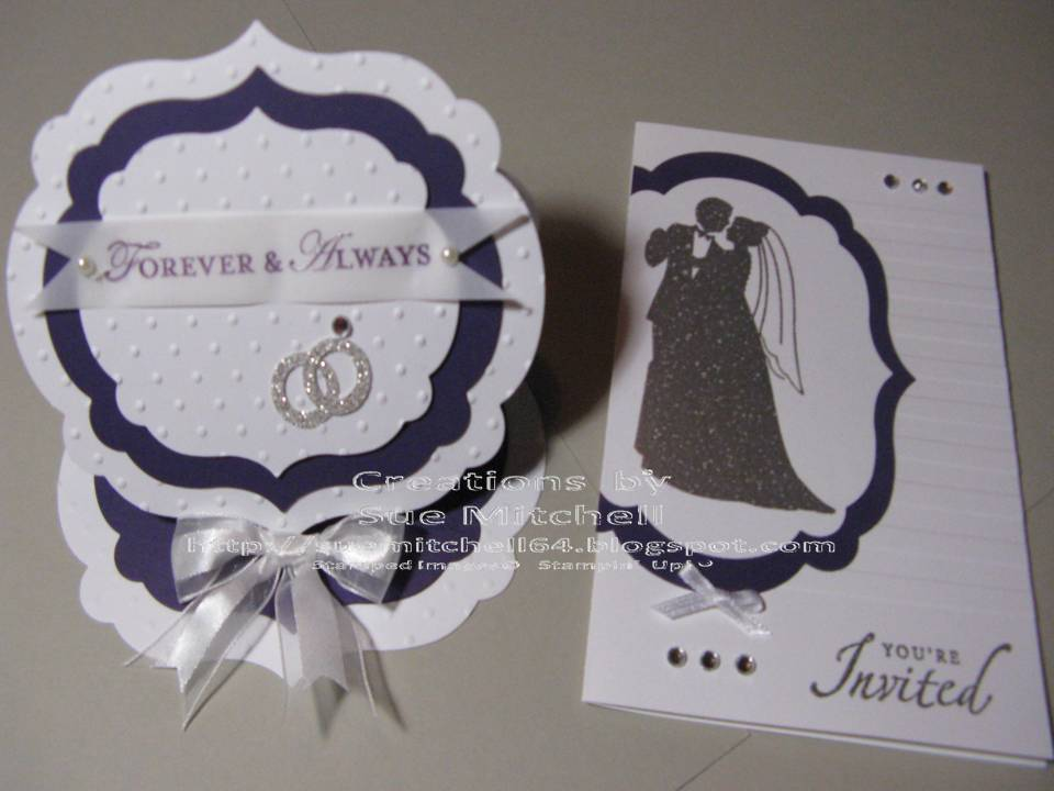 Stampin Up Wedding Invitations: Sue Mitchell: Wedding Invitation