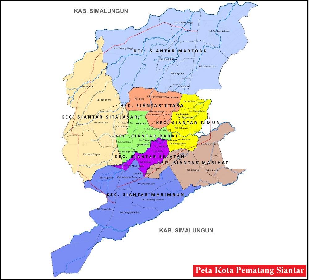 Peta Kota Pematang Siantar