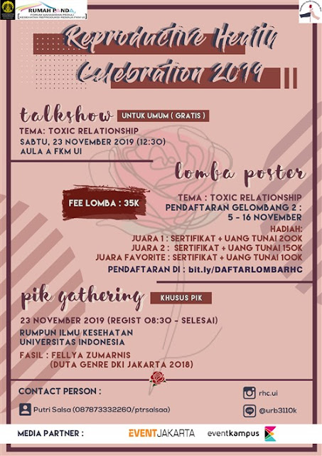Lomba Poster FKM UI: REPRODUCTIVE HEALTH CELEBRATION